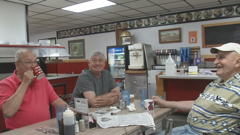 Retirees in Monticello gather for coffee and conversation at Darrell's Restaurant