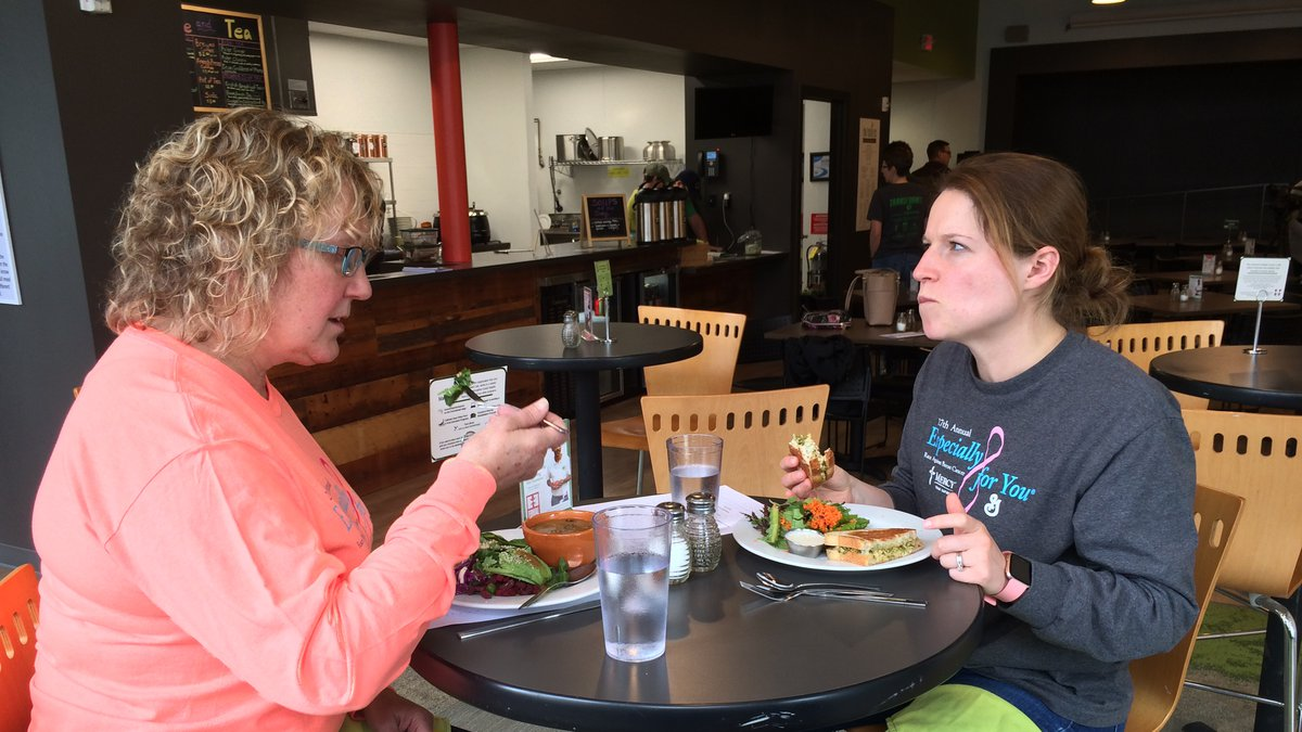Susan Clark and Rachel Hahn dined at the Groundswell Café on Friday.  Both approved of the...