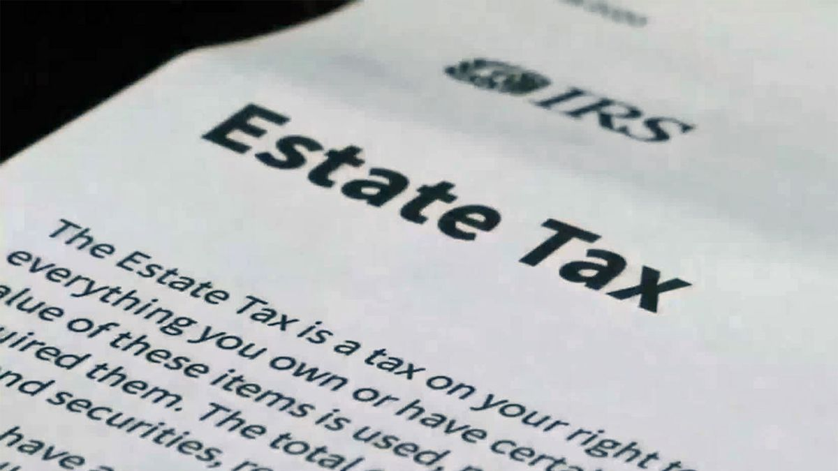 A page explaining the Internal Revenue Service's estate tax.