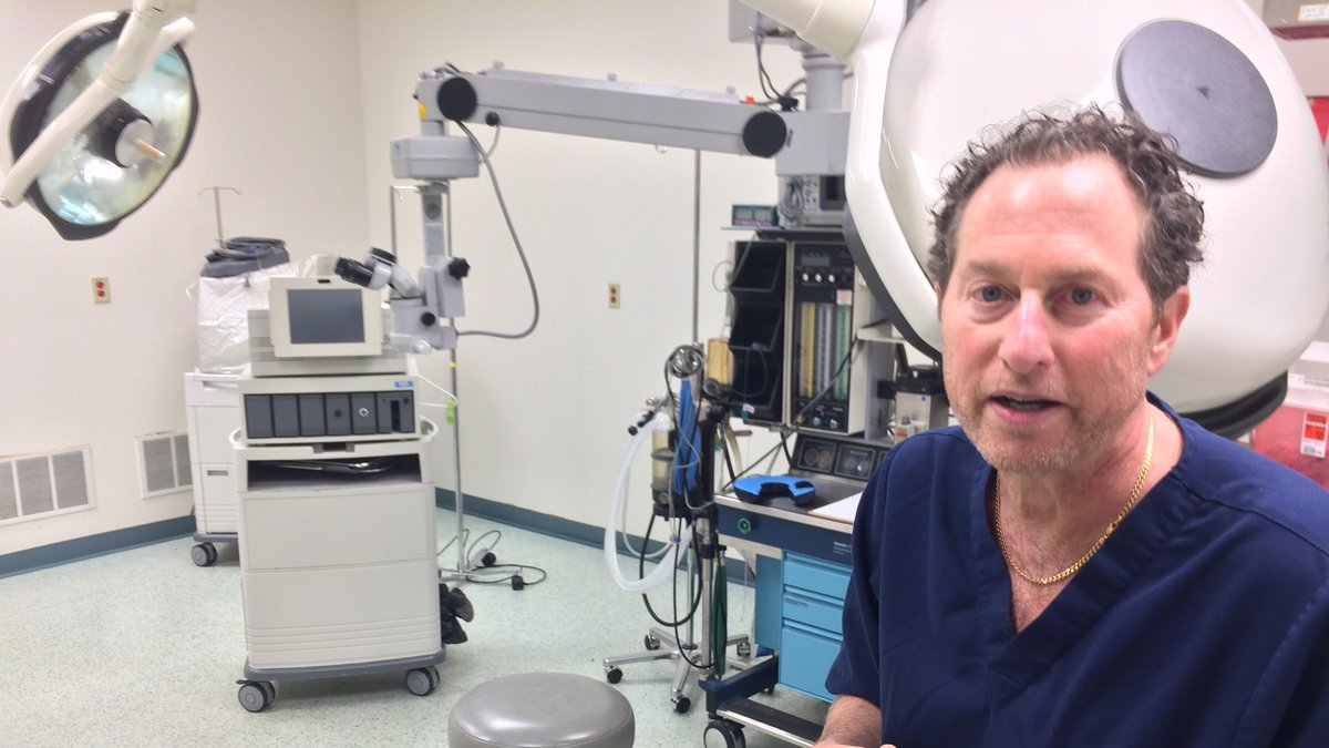 Dr. Lee Birchansky in one of the operating rooms at the Fox Eye Laser & Cosmetic Institute. ...