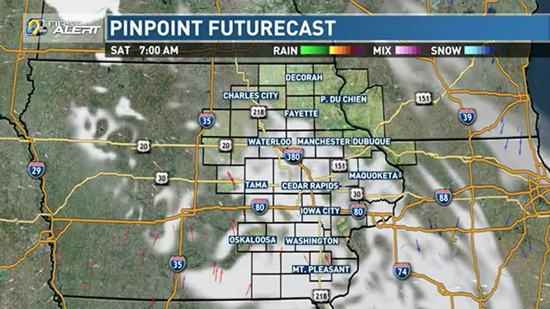 Clouds eventually dissipate today, leading to more sunshine.