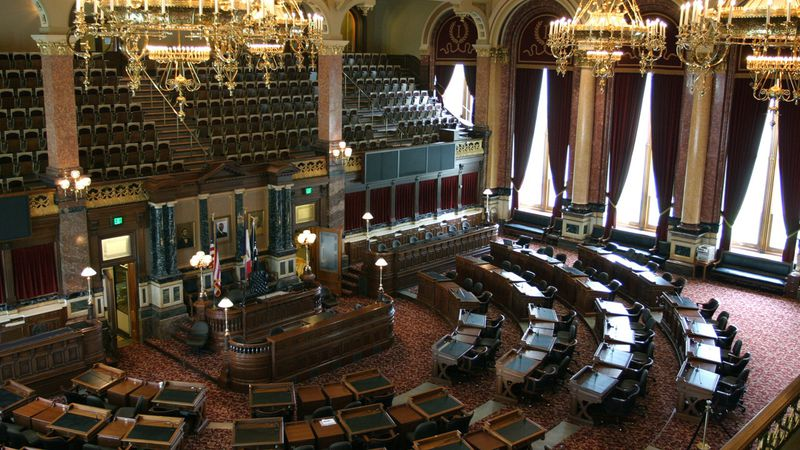 Senate Chamber in the Iowa State Capitol in Des Moines, Iowa