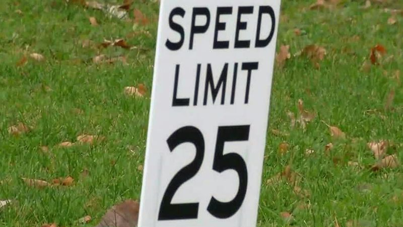 A custom speed limit sign along Taft Speedway in Iowa City, installed by a homeowner nearby...