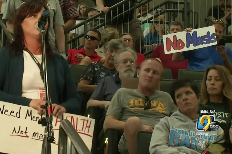 Parents, teachers, and students gathered at Hempstead High School to voice their opinions on a...