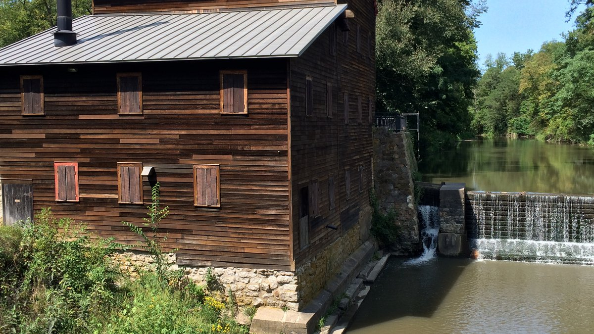 A picture of Pine Creek Grist Mill in Muscatine County taken on Friday, September 1st, 2017....