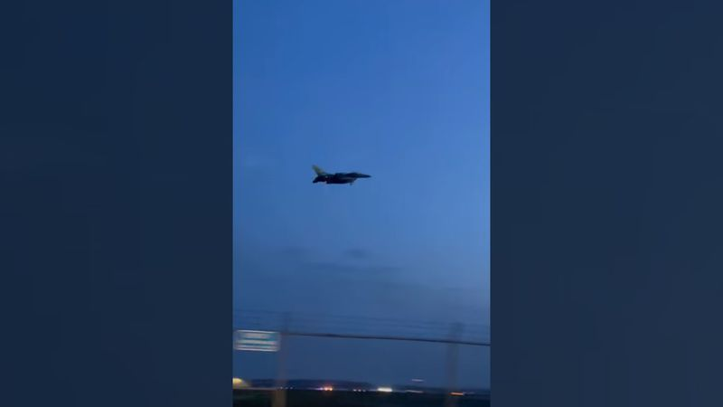 A jet was spotted flying in the skies over Linn County on Thursday, April 22, 2021.