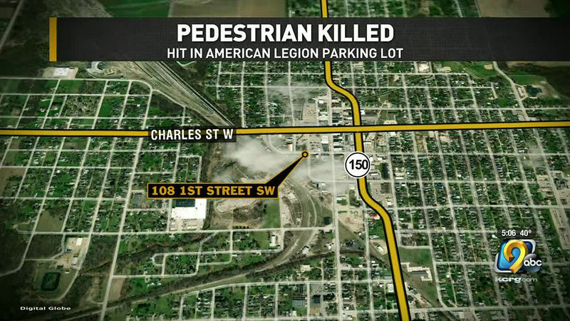 A person is dead after a vehicle hit them in an Oelwein parking lot on Tuesday night.