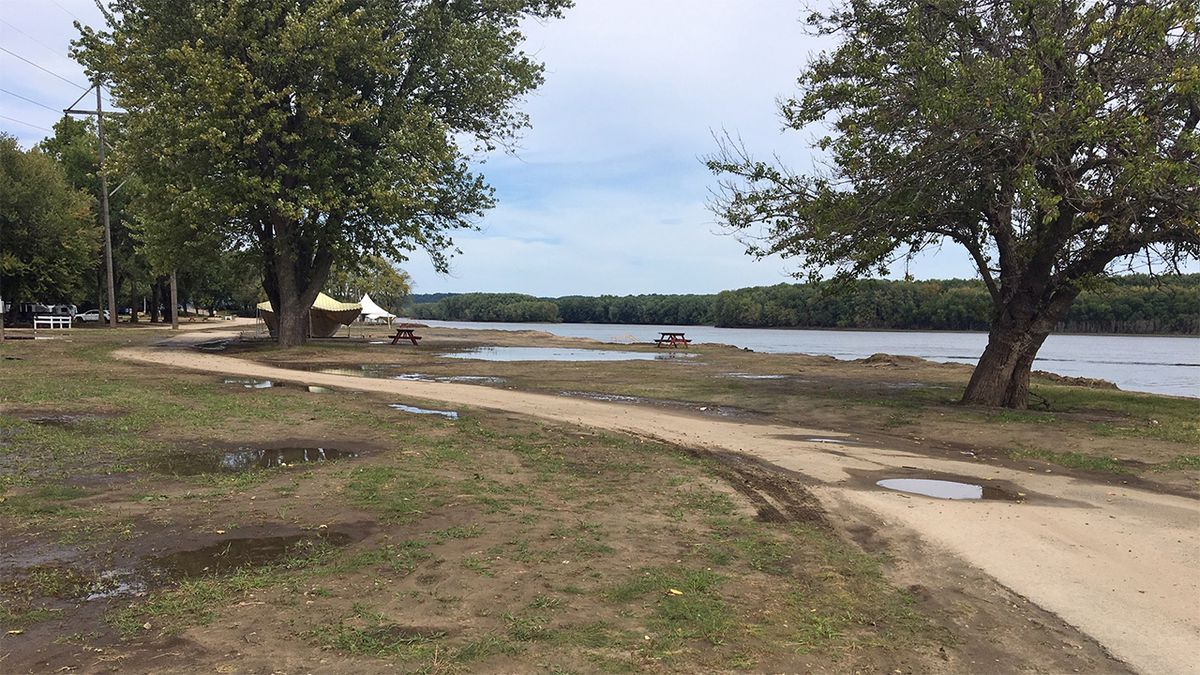 Miller Riverview Park in Dubuque reopened for the first time in 2019 (Allison Wong/KCRG)