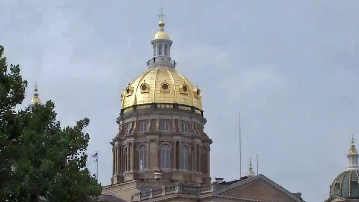 The Iowa statehouse in Des Moines.