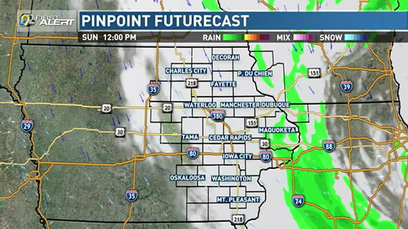 Rain ends early, with some clearing possible by afternoon.