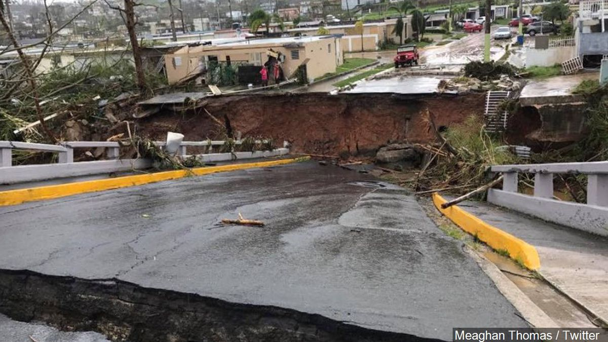 Damage from Hurricane Maria in Puerto Rico, Photo Date: 9/20/17
