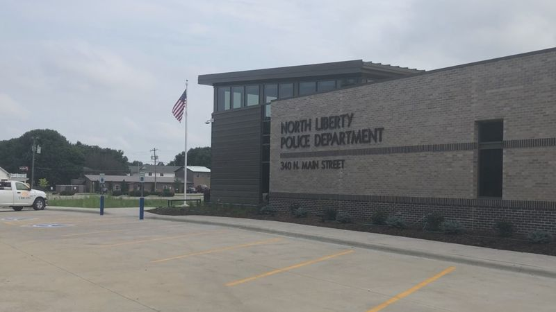 Outside the new North Liberty Police Department in North Liberty, IA on Thursday, July 30,...