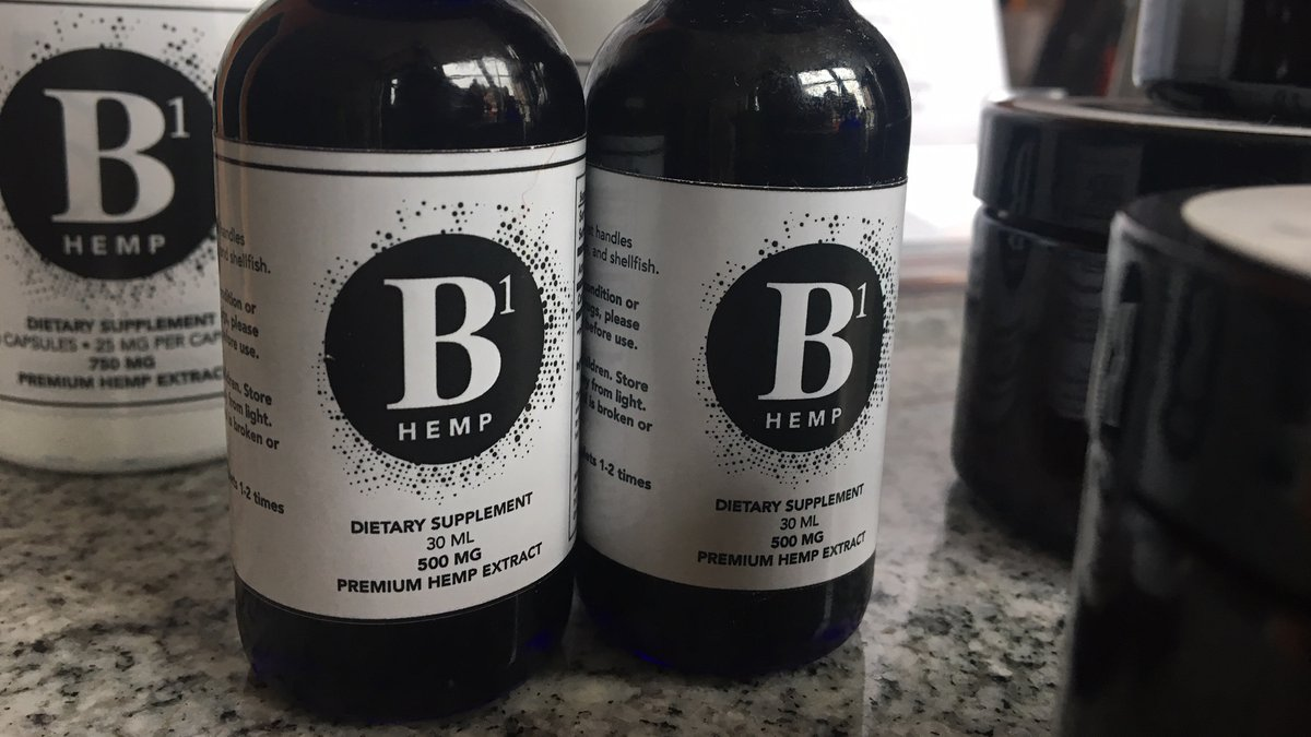 Cally Burkle sells this hemp extract product at her yoga studio, B1 Yoga, on Main St. in...