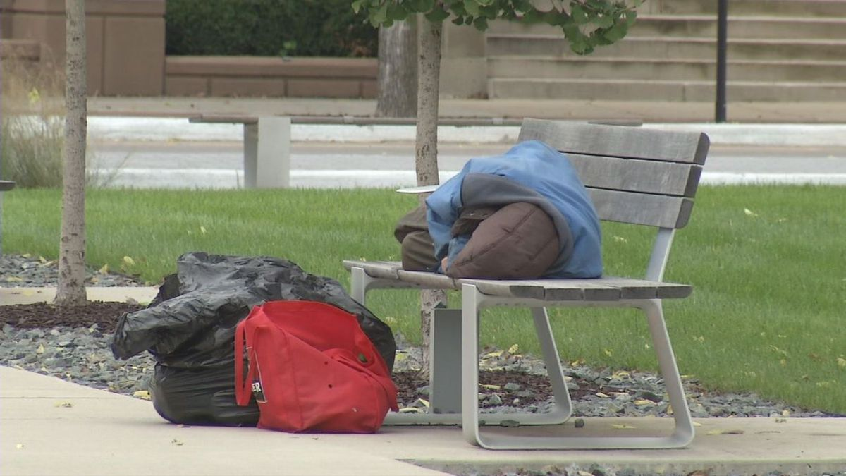 Homeless people struggle to find shelter as colder weather approaches