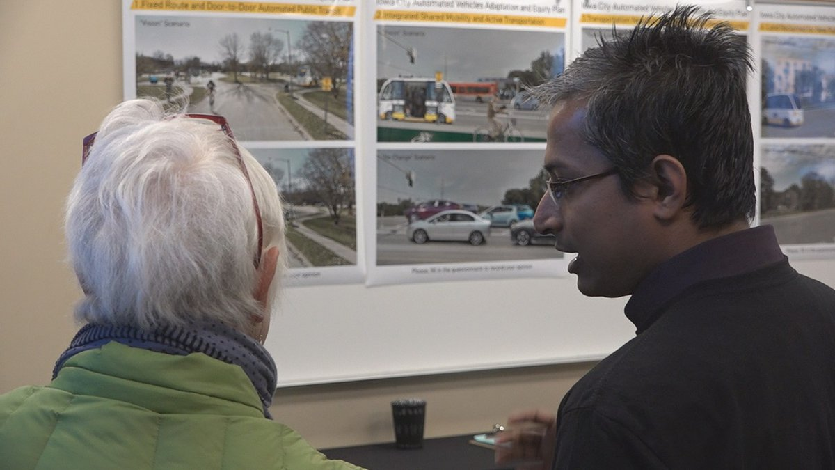 Graduate students with the University of Iowa's School of Urban and Regional Planning seek...