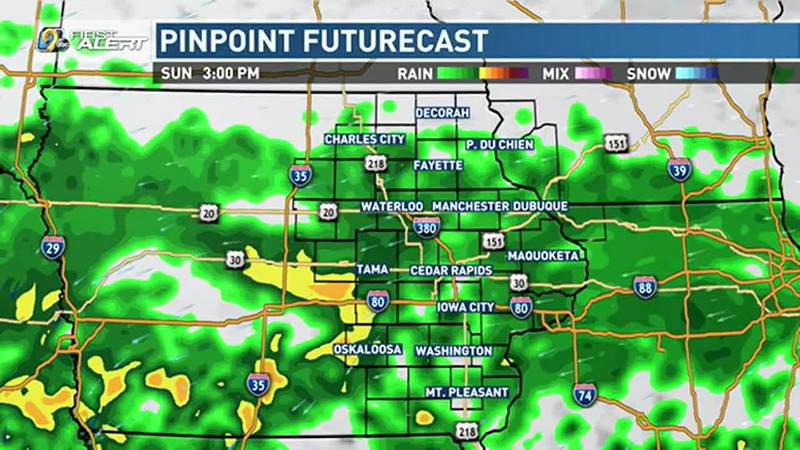 Rain pushes in from the south tonight, with moderate to heavy rain possible for our southern...