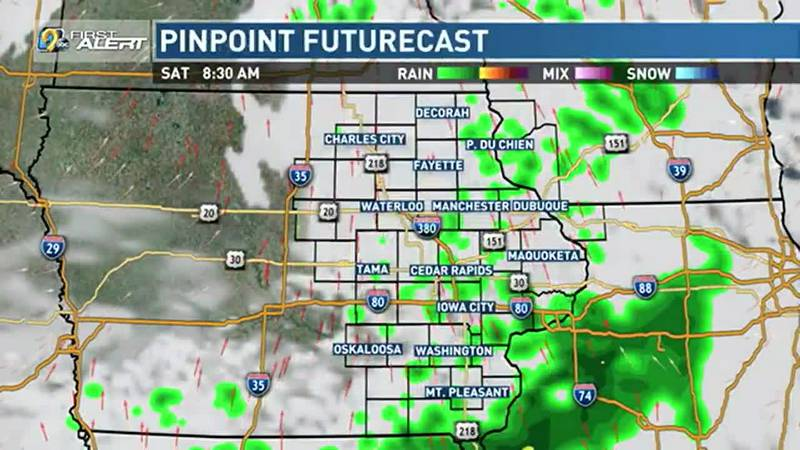Chances for scattered rain showers will continue to be hit or miss with plenty of dry time as...