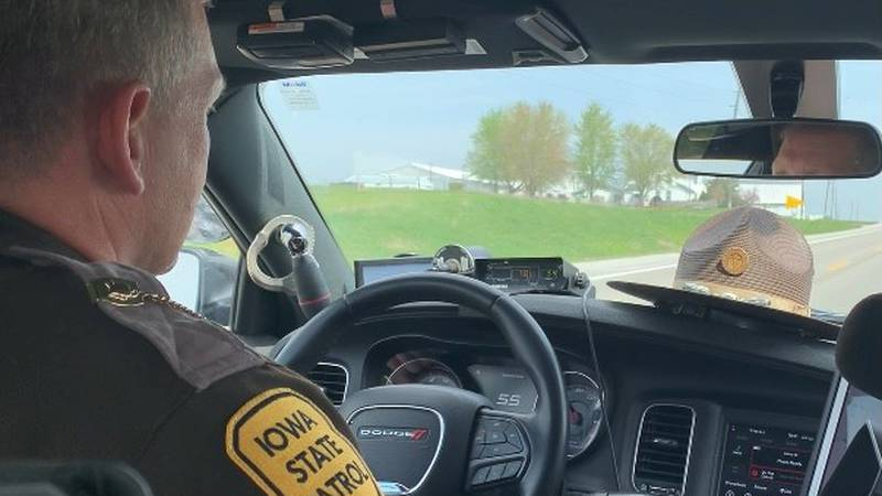 During a 3-hour traffic enforcement project Wednesday, Iowa State Patrol handed out 38...