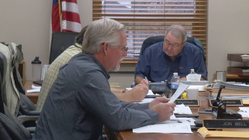Members of the Cedar County Board of Supervisors canvass Election Day results on Tuesday,...