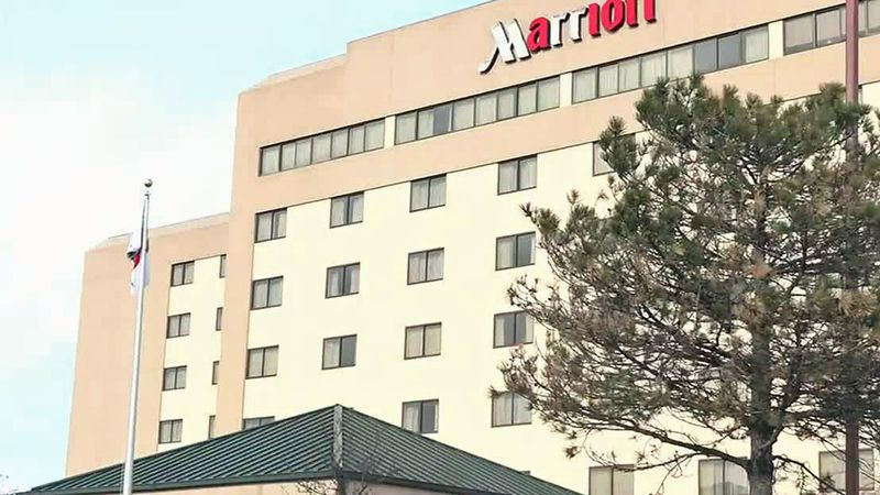 The Marriott hotel on Collins Road NE in Cedar Rapids.