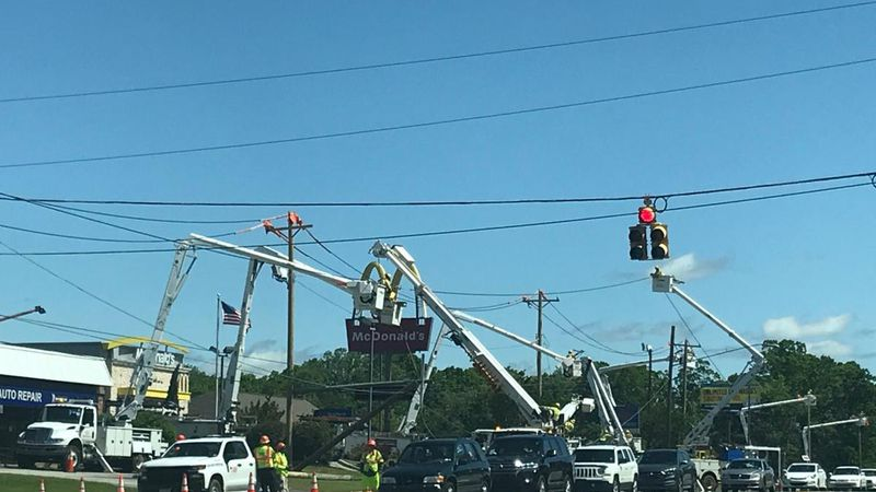 Power crews in Marion are working day and night to clean up from the derecho that slammed...