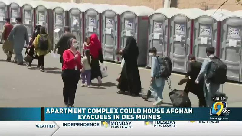 Iowa is expected to receive 350 Afghan evacuees in the near future.