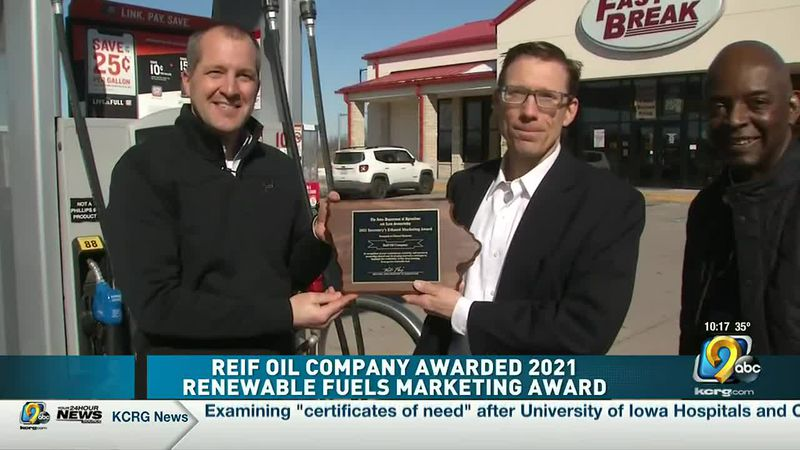 Reif Oil awarded 2021 Renewable Fuels Marketing Award