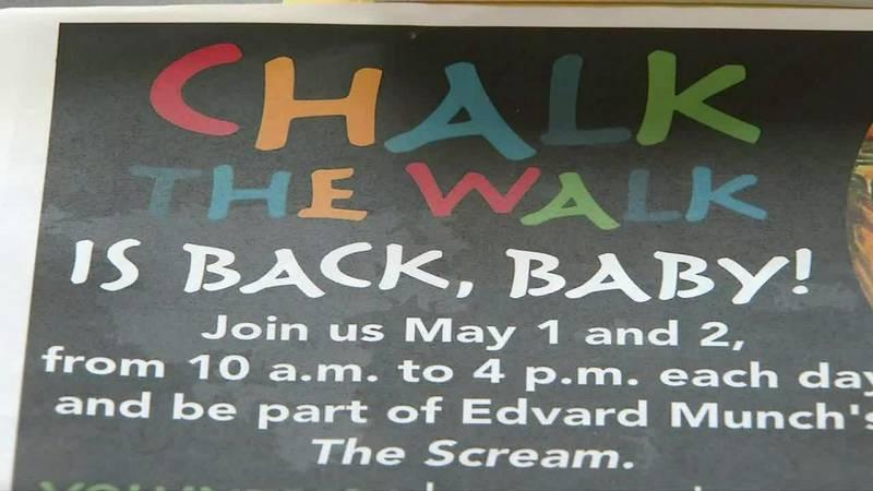 Chalk the Walk Sign