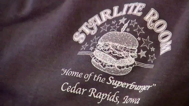 A shirt for the Starlite Room in Cedar Rapids.