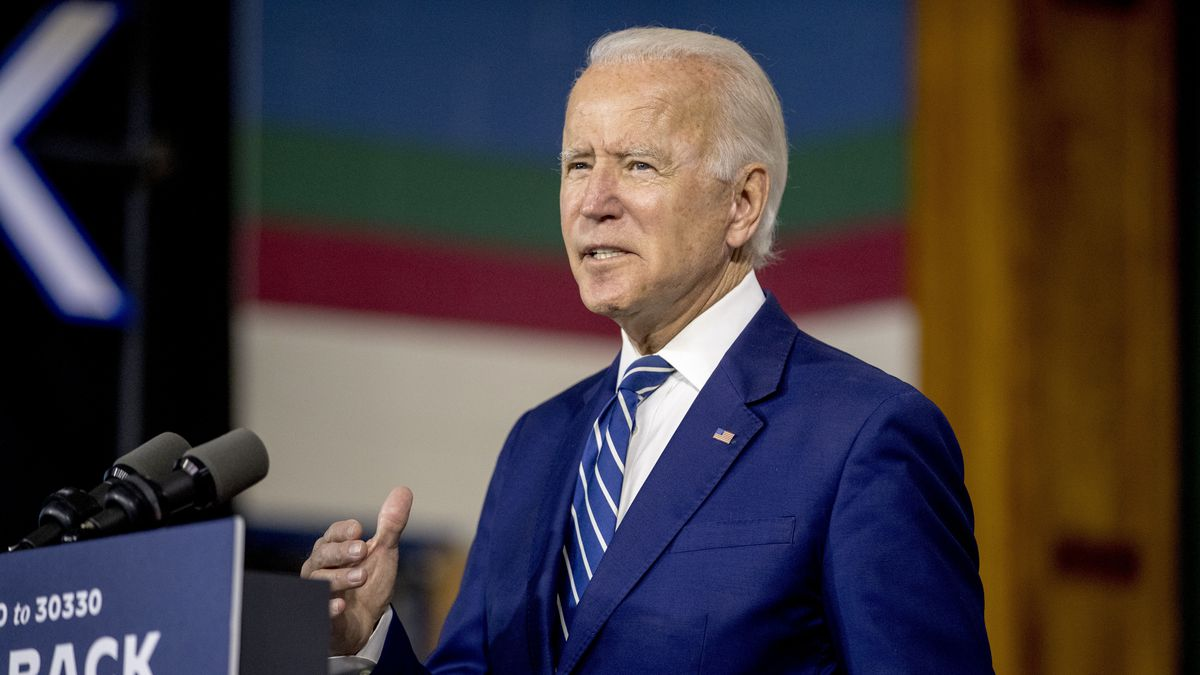 Former Vice President Joe Biden speaks at a campaign event at the Colonial Early Education Program at the Colwyck Training Center, Tuesday, July 21, 2020, in New Castle, Del. Biden will not travel to Milwaukee to accept his party's White House nomination because of concerns over the coronavirus, according to a source.