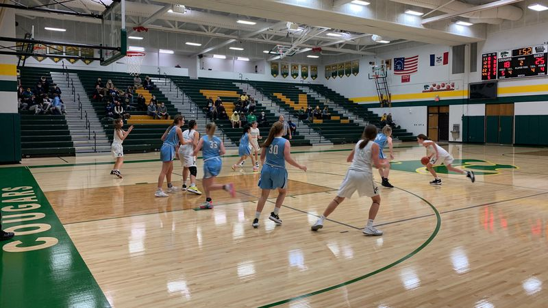 A girls' JV basketball game at Kennedy High School on Jan. 4, 2021.