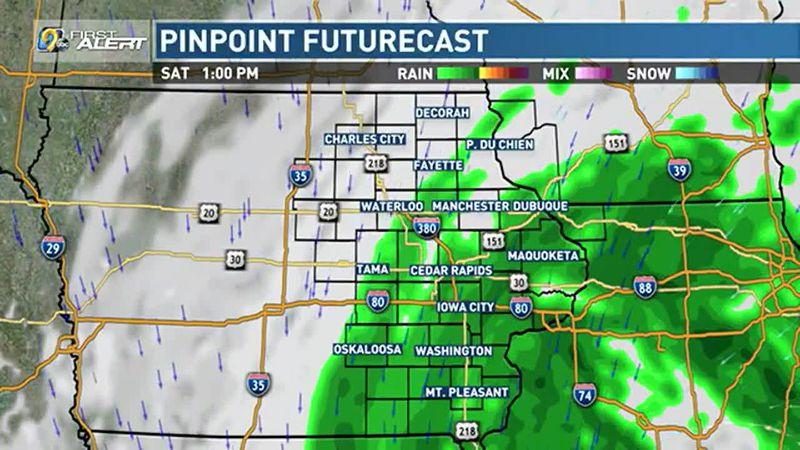 Rain likely today.