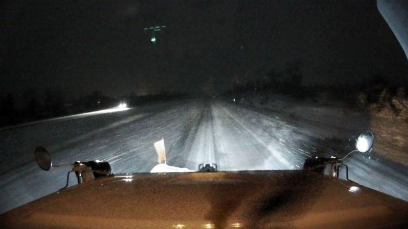 An Iowa Department of Transportation plow camera, along Interstate 380 at mile marker 30, on...