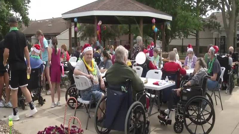 Staff at Solon Retirement Village held a Christmas in July celebration for dozens of residents...