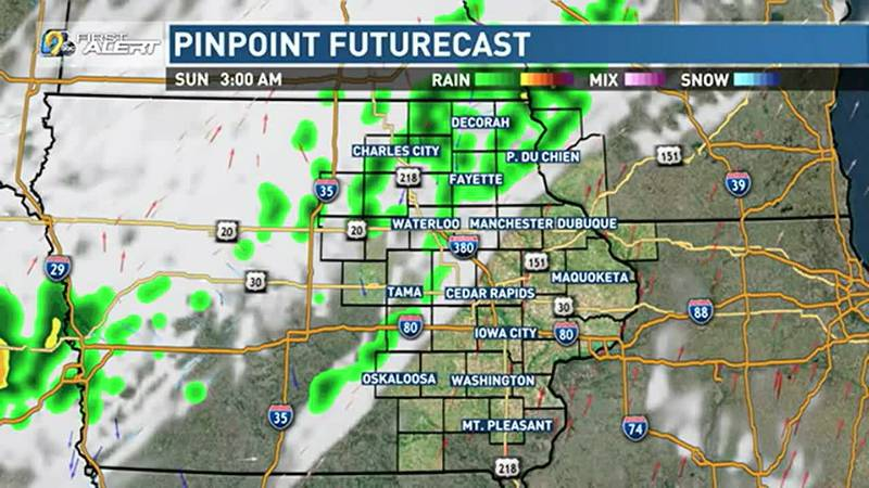 Chances for rain and thunderstorms are once again in the forecast overnight, mainly along and...