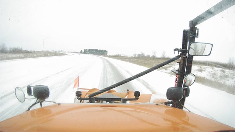 View from Iowa DOT plow camera in Northern Iowa on the afternoon of Friday, January 18, 2019....