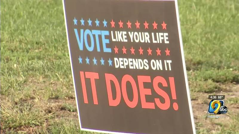 A barber shop in Waterloo held an event on Sunday to encourage people to register to vote.