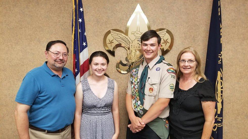 Jan Jackson (far left), Sabrina Jackson (second from left), Alexander Jackson (second from...