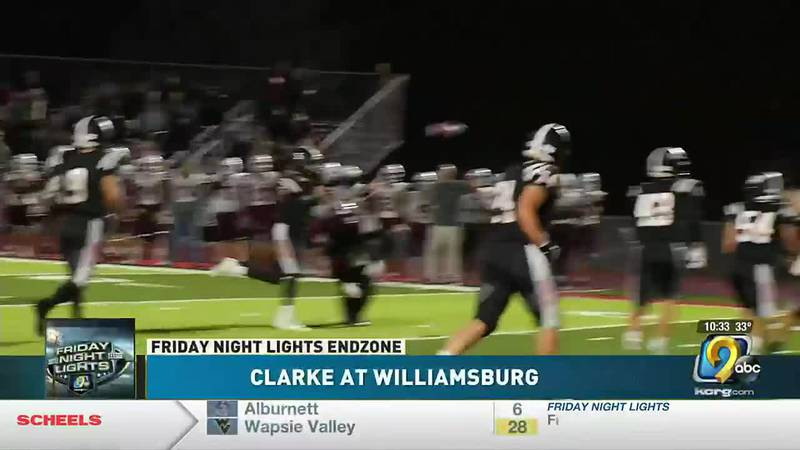 Williamsburg wins in round one of the playoffs 40-0 over Clarke