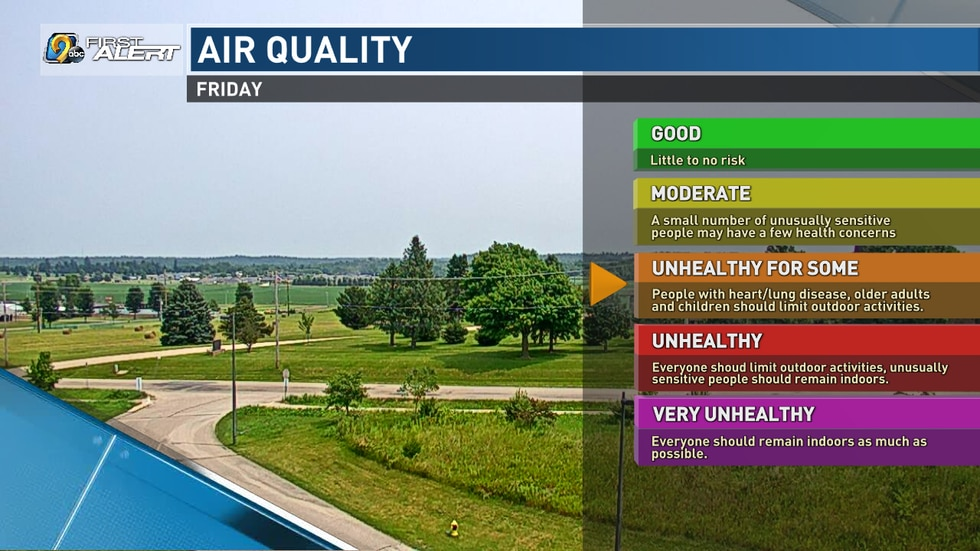 Air quality may be unhealthy for sensitive groups.