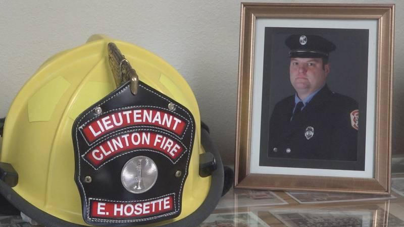 Lt. Eric Hosette died while fighting a grain bin fire in Clinton, Iowa on January 5, 2019.
