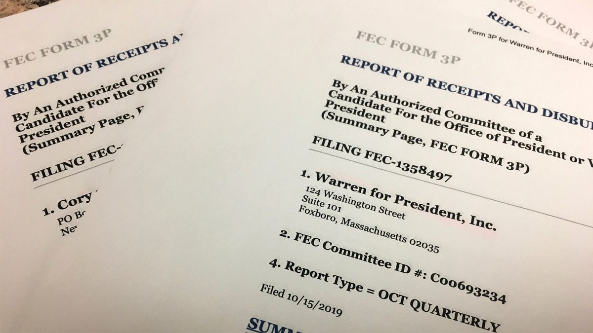 Candidates' third-quarter financial filings were due to the Federal Election Commission on Oct. 16, 2019. (Mary Green/KCRG)