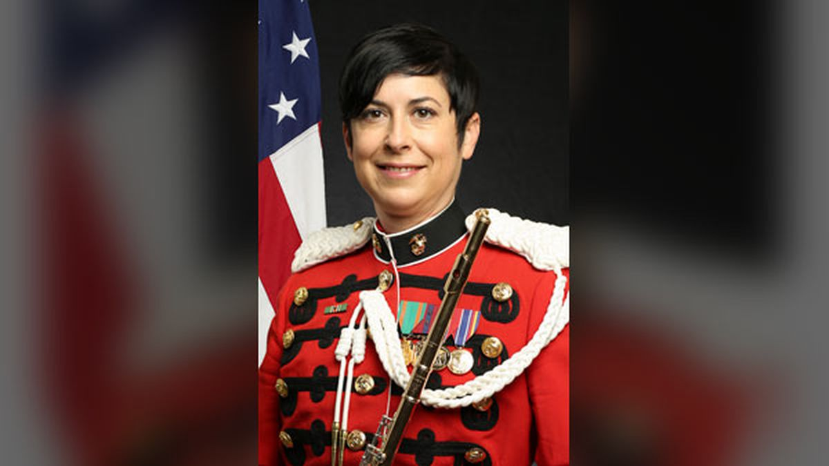 Gunnery Sergeant Kara Santos, an Iowa City native, will perform in the Inauguration ceremony in...