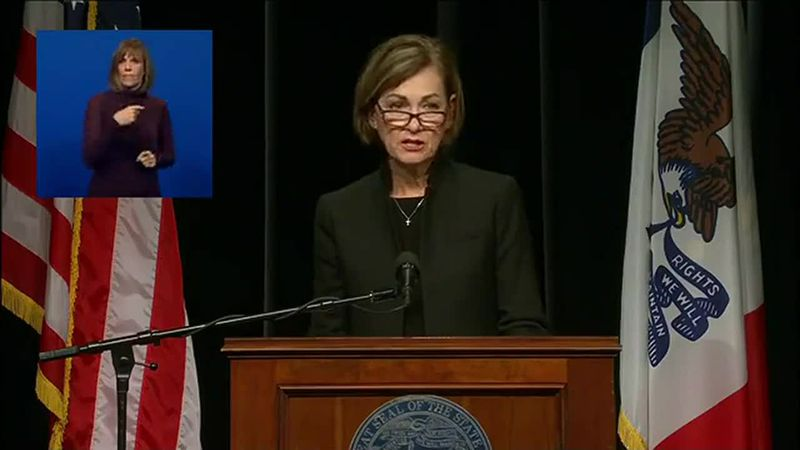 Gov. Reynolds held a press conference to give updates on the state's pandemic response.