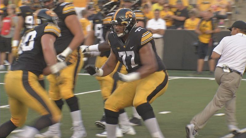 Iowa senior left tackle Alaric Jackson changed to a vegan diet this offseason and says he feels...