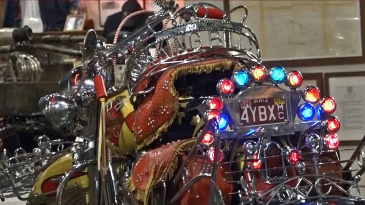 A motorcycle on display at the National Motorcycle Museum in Anamosa on Tuesday, May 26, 2020. (Aaron Hosman/KCRG)