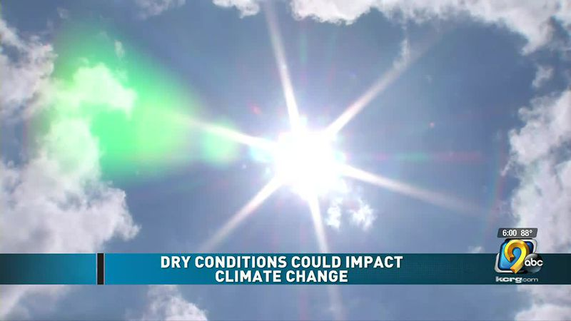 Dry conditions could impact climate change