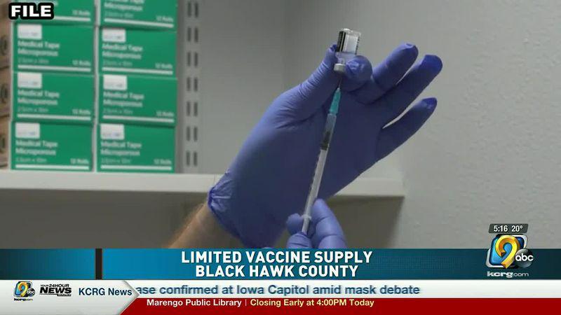 Black Hawk County vaccine supply limited
