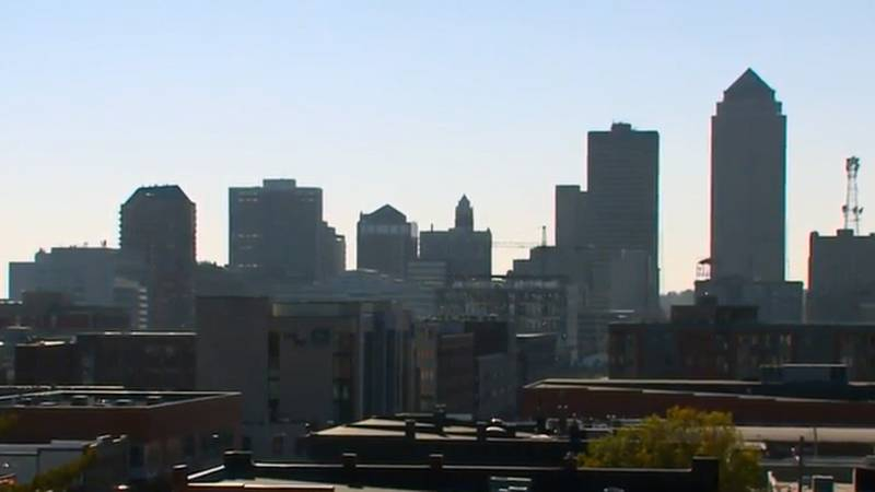 The downtown Des Moines skyline.