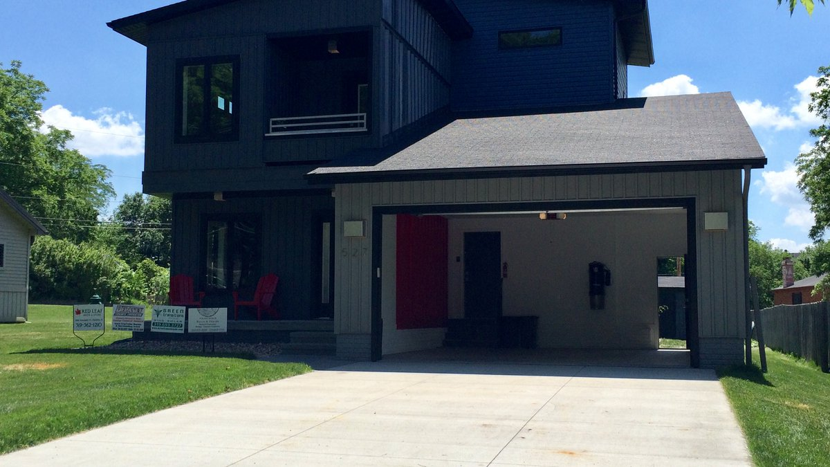 A home at 527 30th St. Dr. S.E. in Cedar Rapids constructed with shipping containers.  The home...